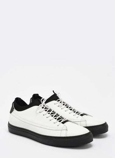 D by Divarese Deri Sneaker Beyaz